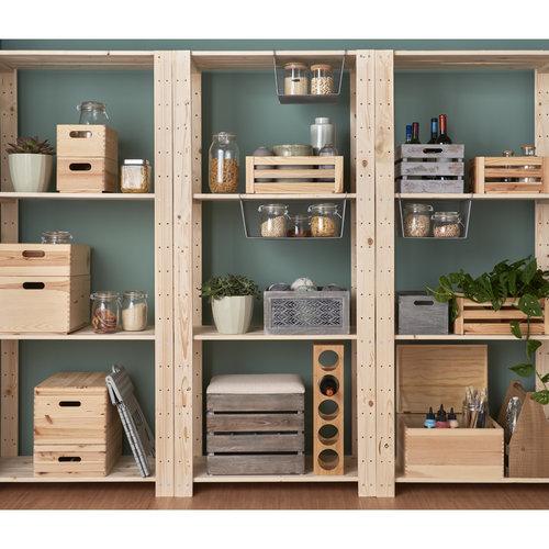 Houten opbergbox 40 x 30 x 15 cm Zeller Present | uitneembare indeling