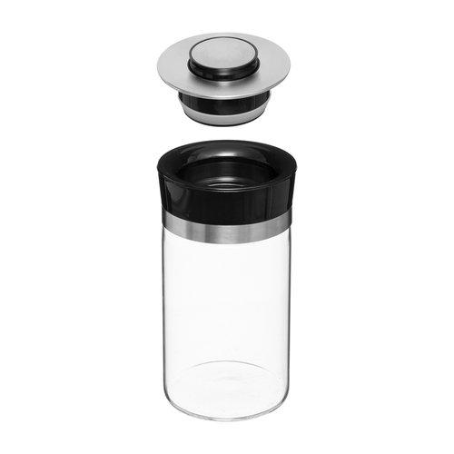Glazen voorraadpotten met drukknop Five®   luchtdicht