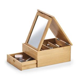 Bamboe make-up doos met spiegel Zeller