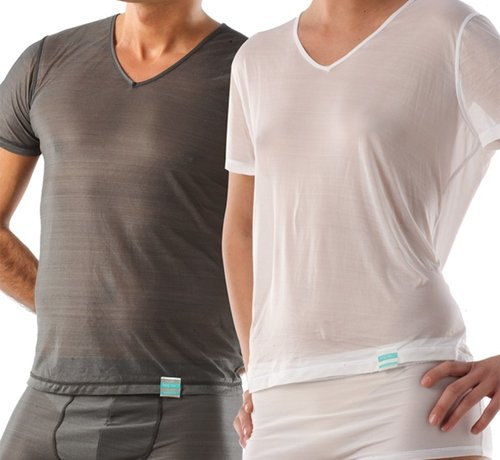T-shirt short arm V-neck