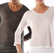 Maglietta lunga, collo a V
