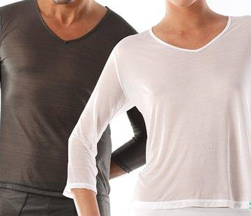 T-shirt eczema manica lunga, scollo a V