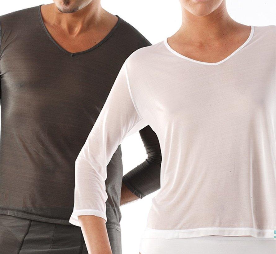 T-shirteczema manica lunga, scollo a V