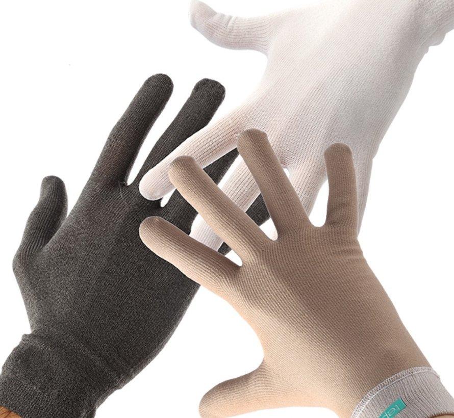 Paquete de 2 guantes para eczema.