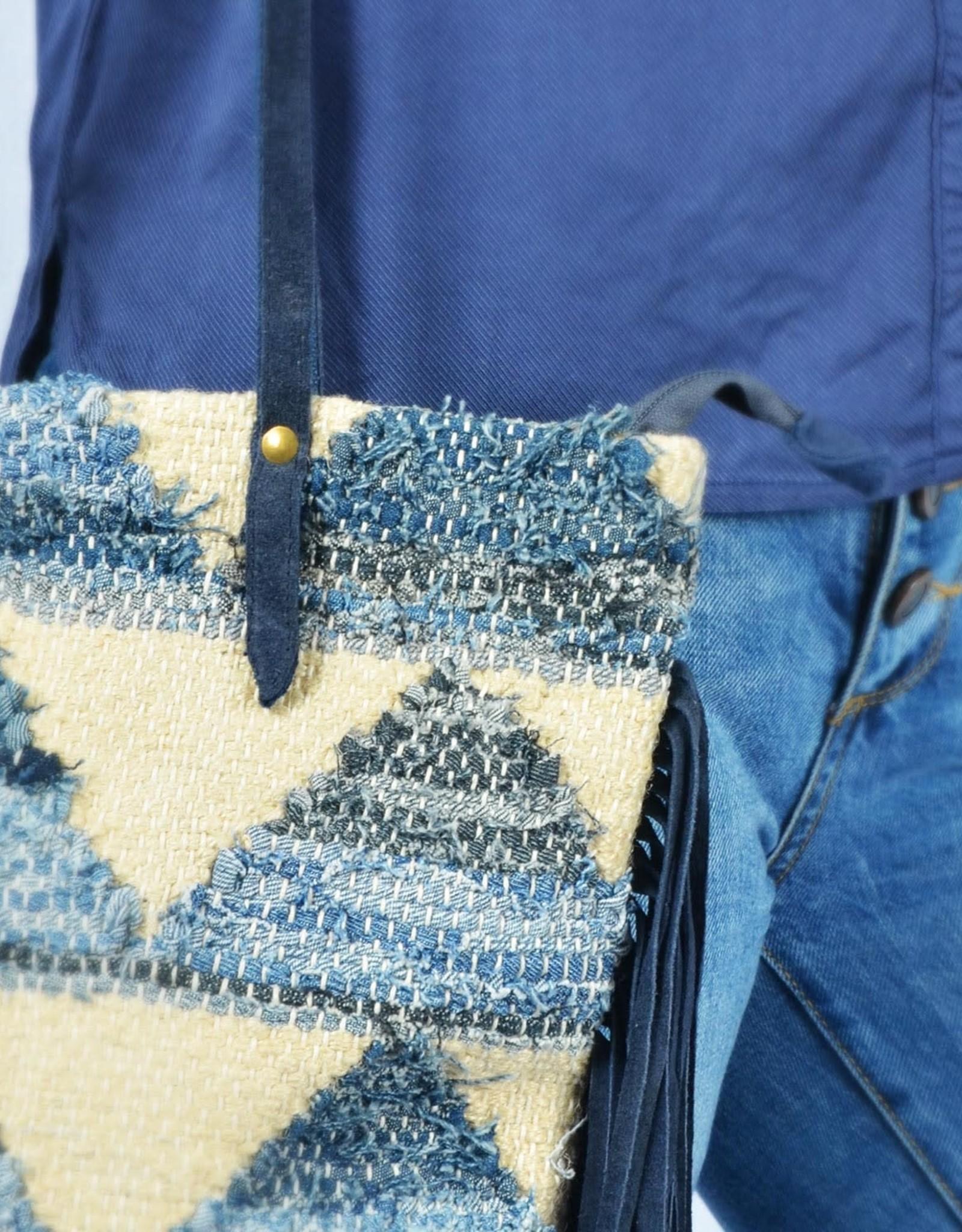 Blue boho beach bag