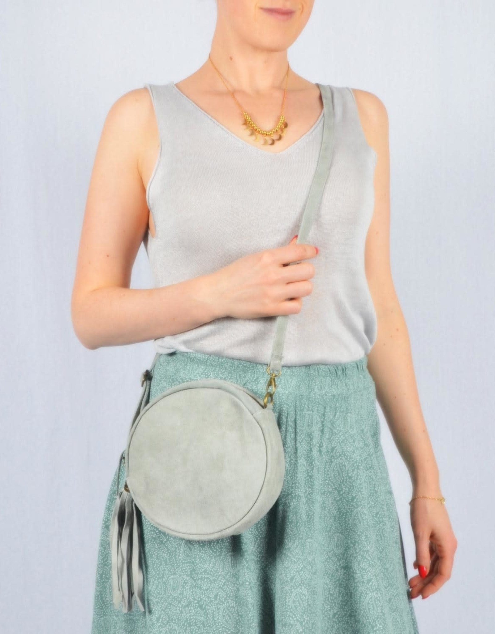 Round sidebag grey