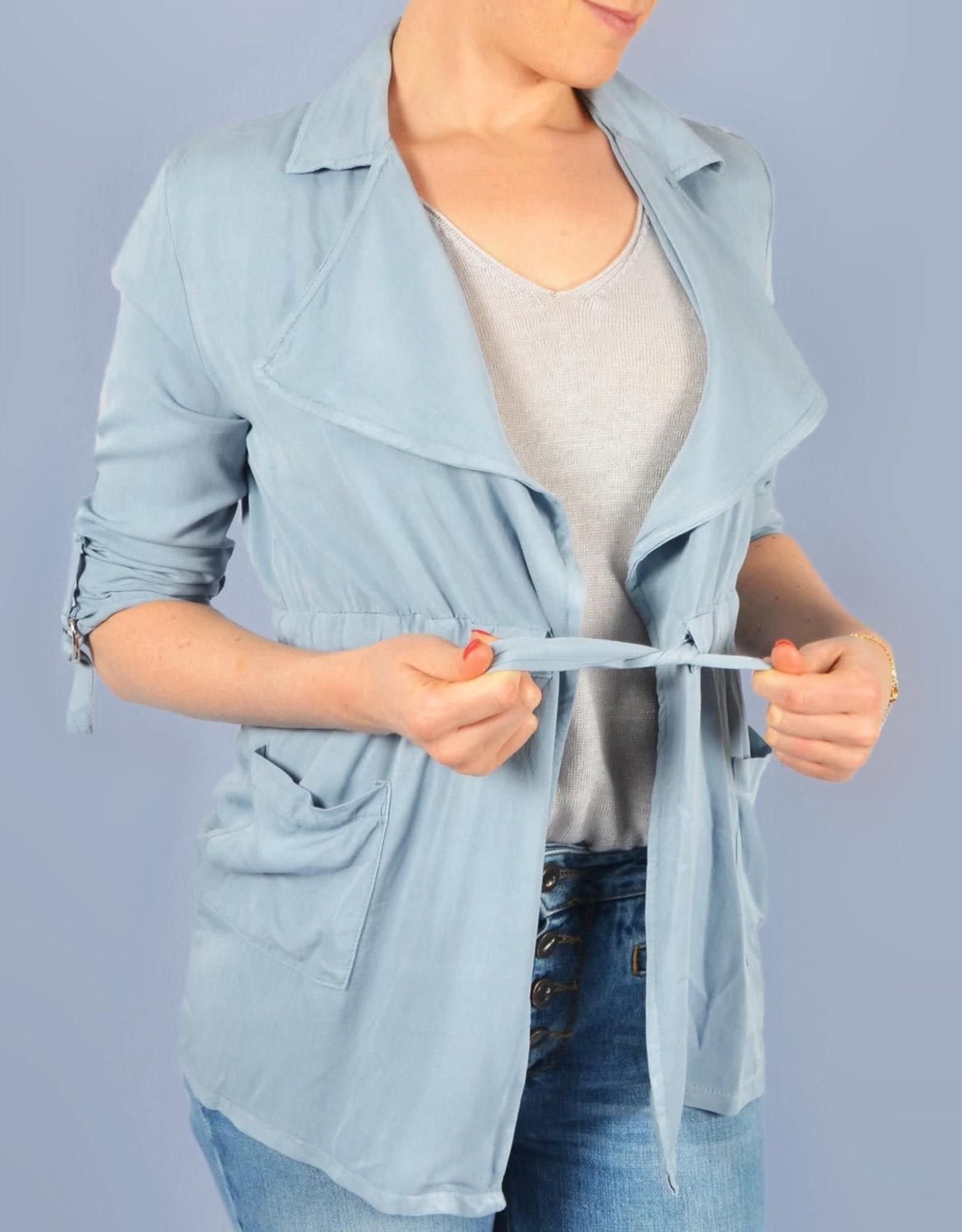 Blue jacket summer