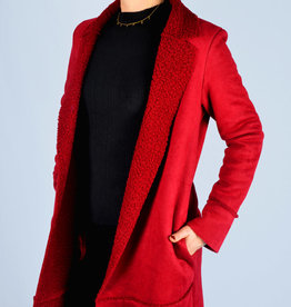 Fur coat red