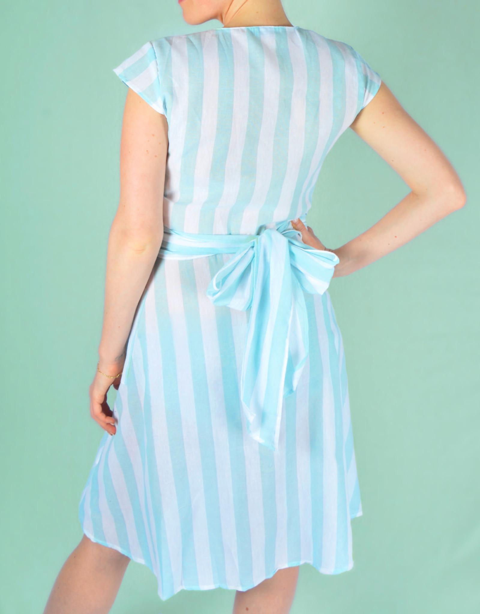 Green striped dress