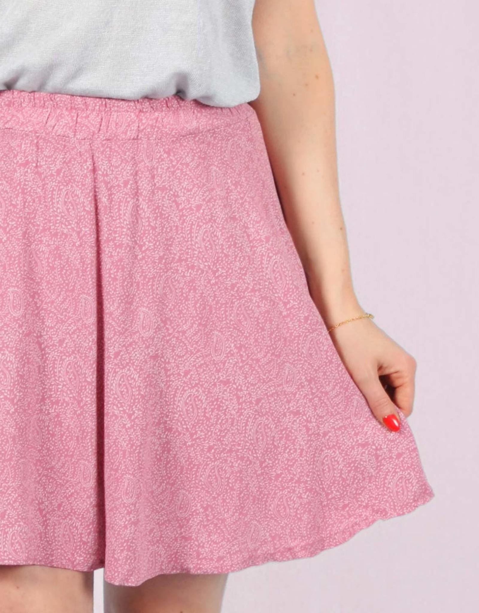Leaves skirt pink