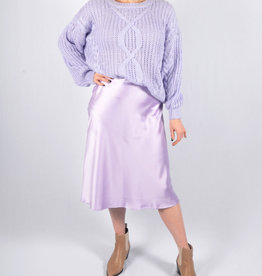 Lila silk skirt