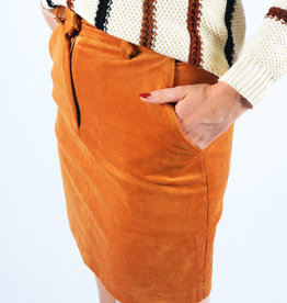 Ribbed skirt camel