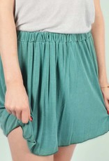 Washed skirt green