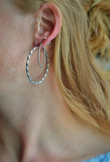 Twisted hoops silver