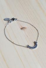 Nighty blue bracelet silver