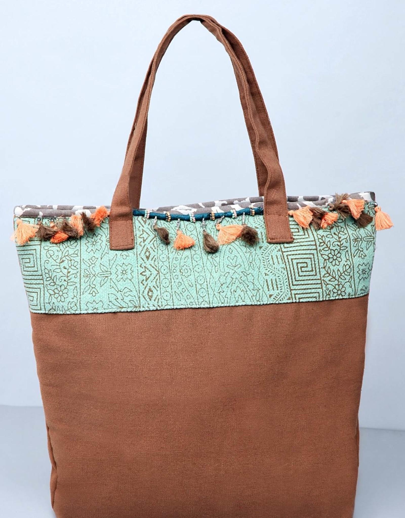 Aquamarin boho bag