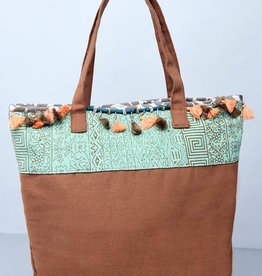 Aquamarin boho bag