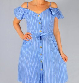 Off shoulder dress light blue