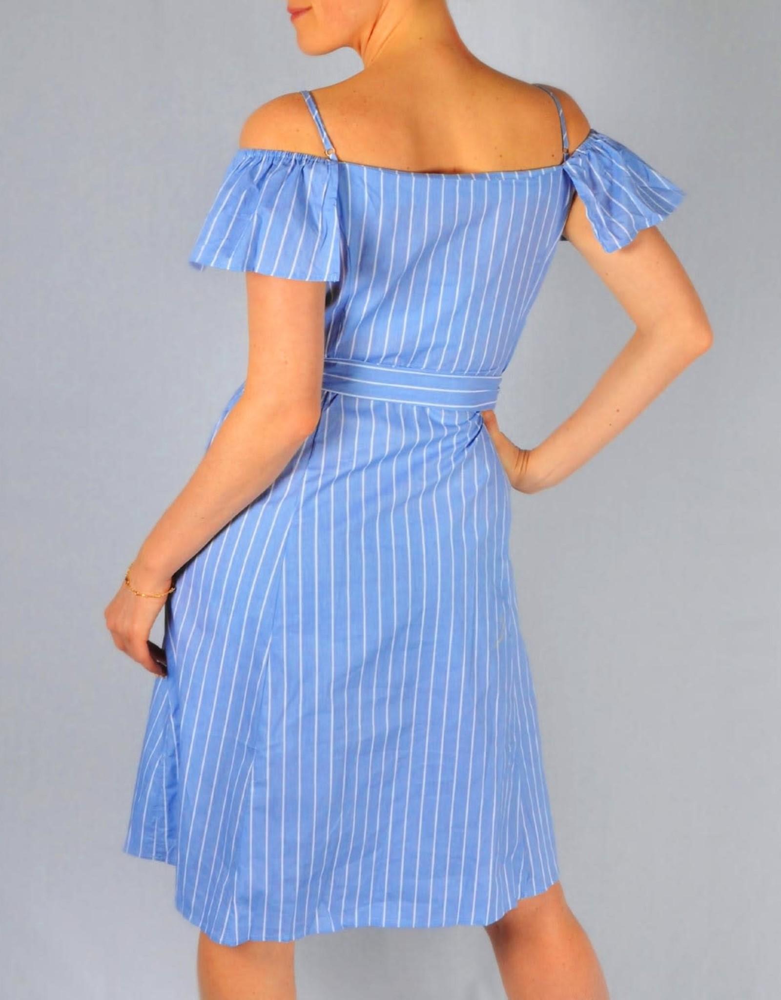 Off shoulder dress light blue