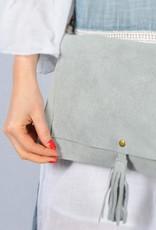 Strap bag suede grey