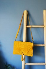 Strap bag suede yellow