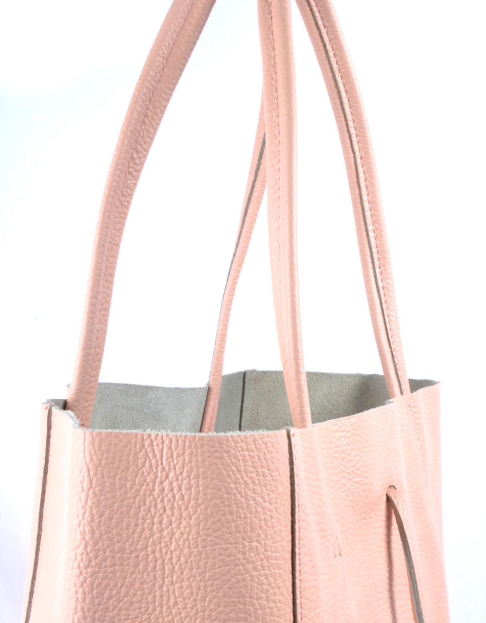 shopper met lintje pink