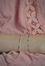 Tube bracelet silver