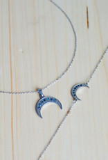 Nighty blue necklace silver