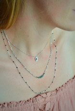 Spark black necklace silver
