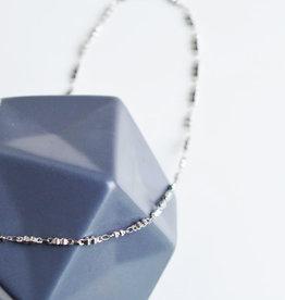 Bola doble necklace silver