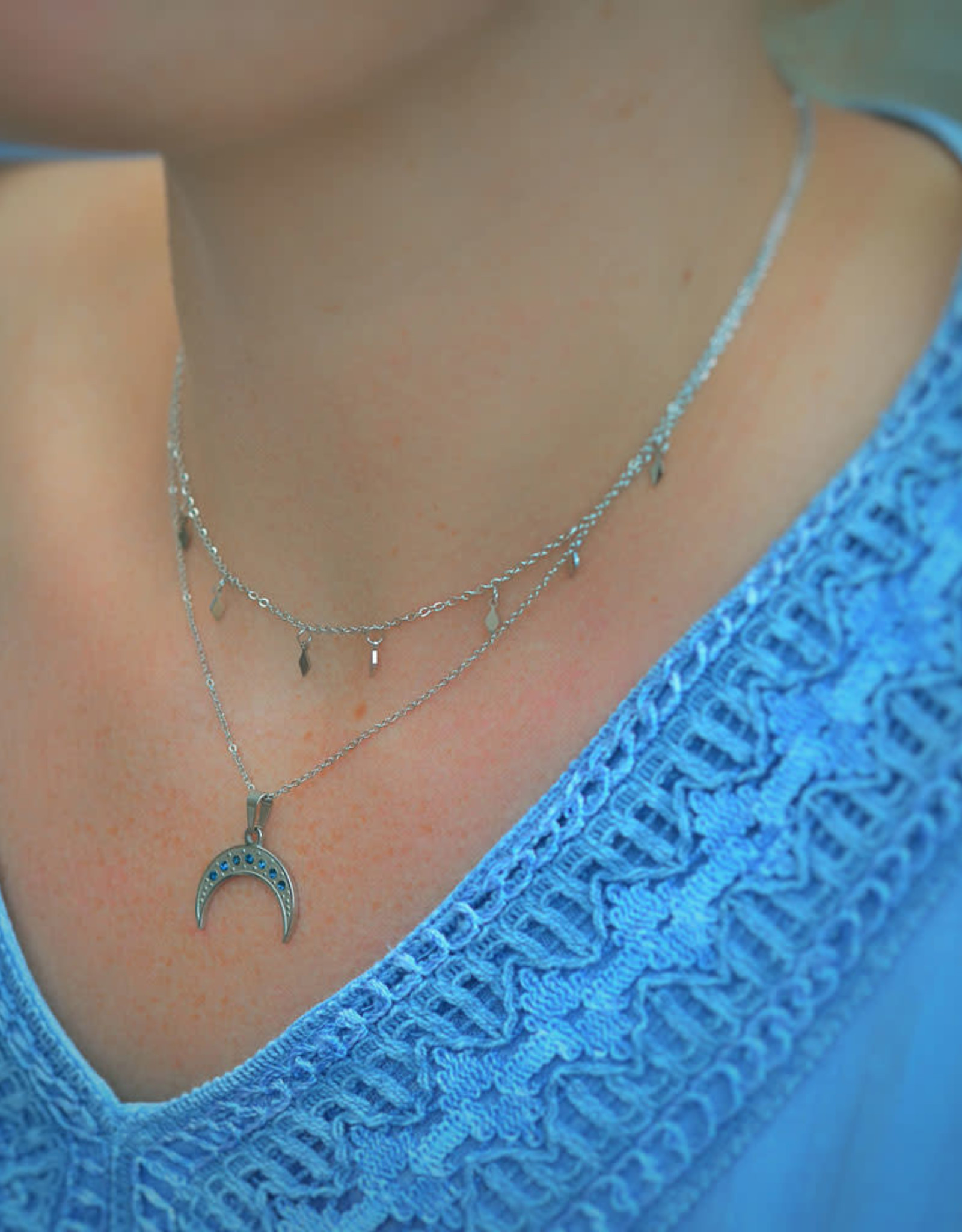 Rombo necklace silver