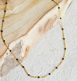 Black dot necklace