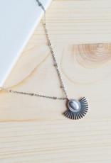 Marble necklace silver