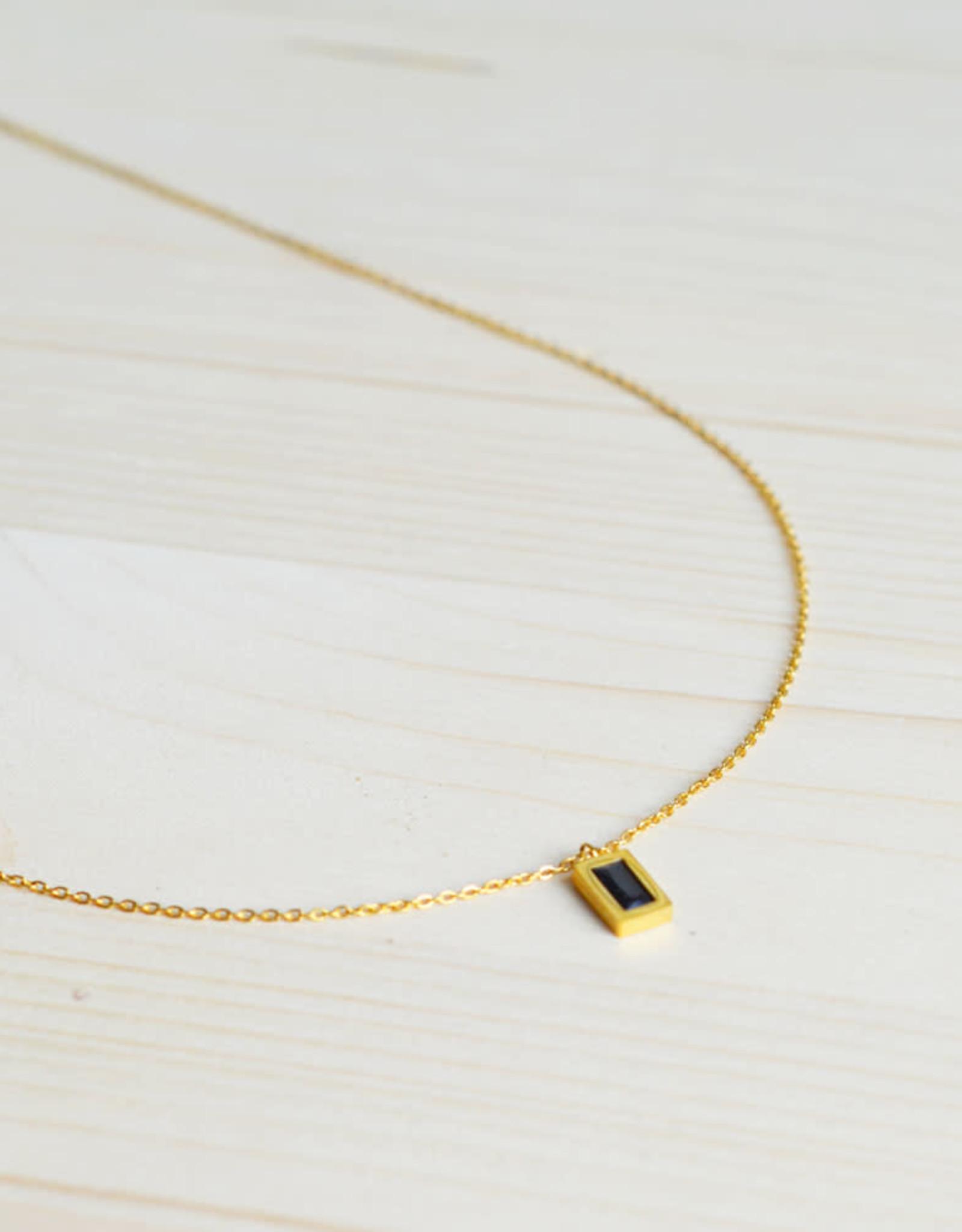 Spark black necklace