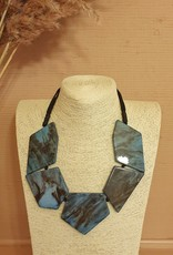 Resin necklace duro blue