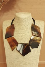 Resin necklace duro brown