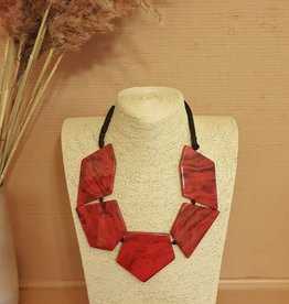 Resin necklace duro red