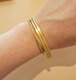 Vergulde armbanden set van 3