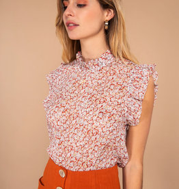 Flores top red