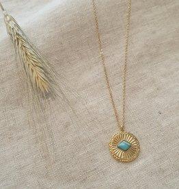 Summer eye turquoise necklace