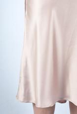 Nude silk skirt