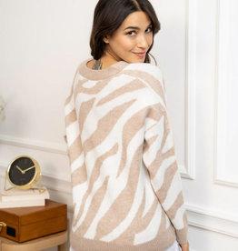 Nude zebra gilet