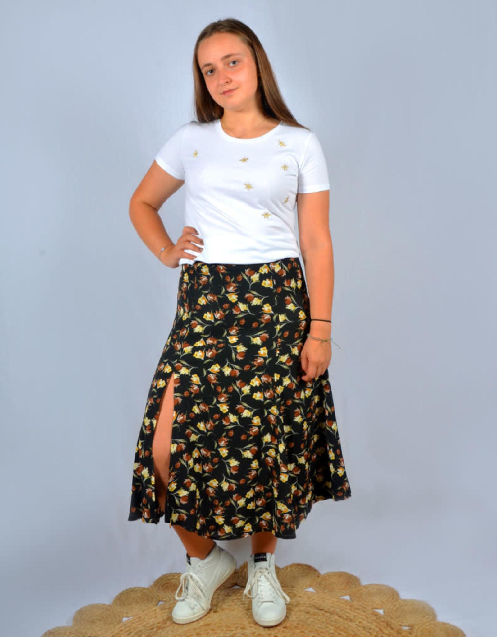Floral skirt black