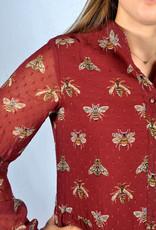 Burgundy bee dress