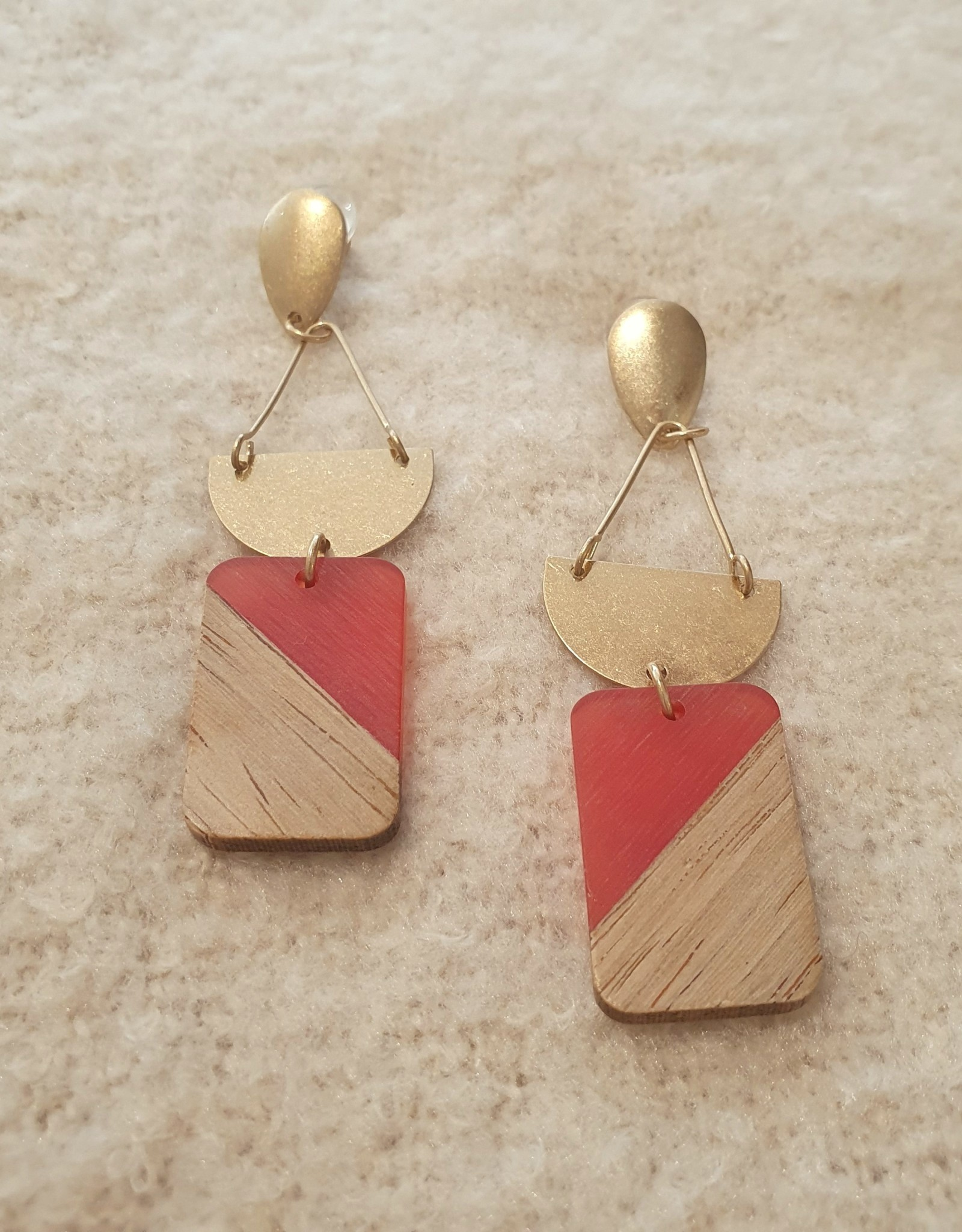 Wooden hanger red