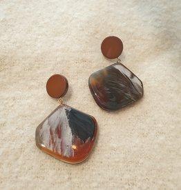 Resin square  brown
