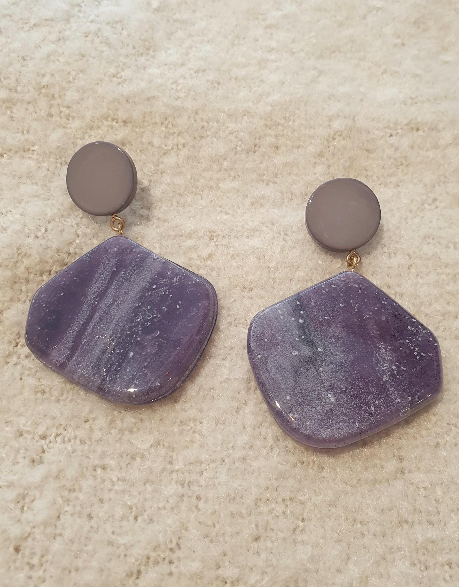 Resin square  purple