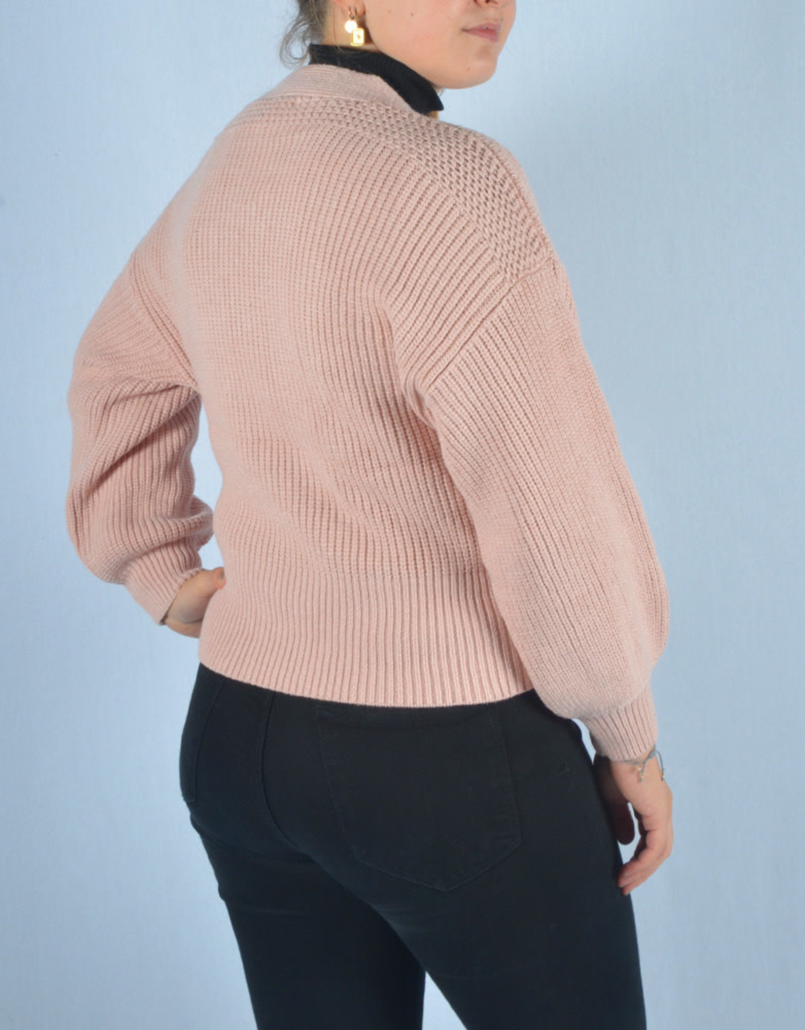 Leila gilet soft pink one size