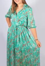 Turquoise flower dress