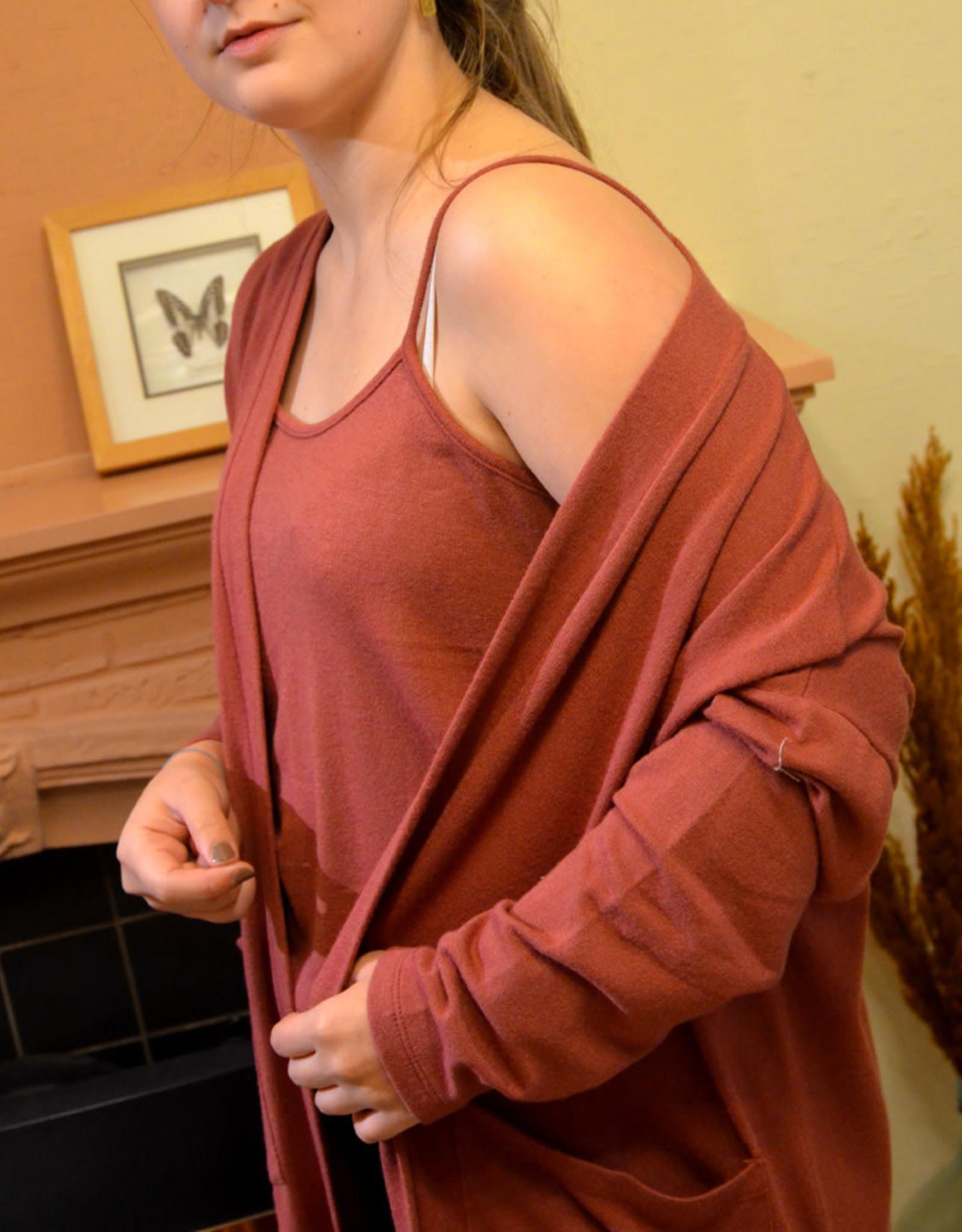 3-piece homewear SET  dark pink one size